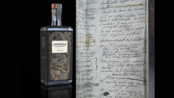Nude Brand Creation Launches Design for Copperfield London Dry Gin from the Surrey Copper Distillery