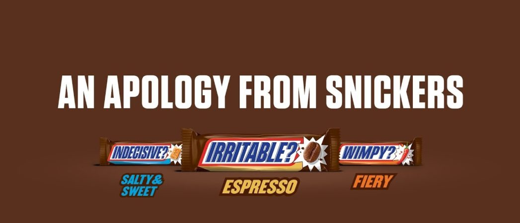 Snickers and BBDO New York Call People 'Jerks' then Apologise in Introduction of New Flavours