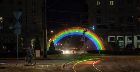 Ben & Jerry's Marks Pride in Poland with Water-Light Rainbow Hologram