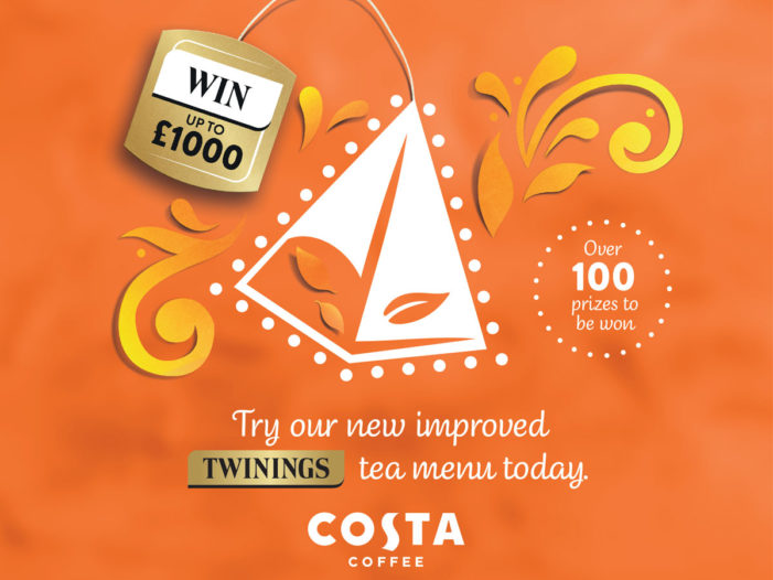 Be Served a Golden Tea Tag at Costa for the Chance to Win up to £1,000
