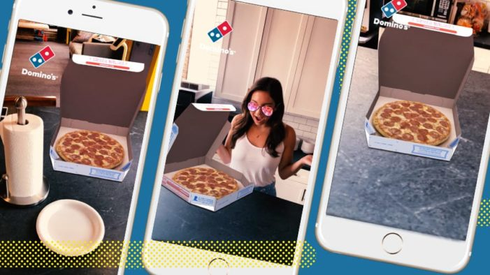 Domino's Collaborates with Snapchat to Bring Pizzas in Augmented Reality