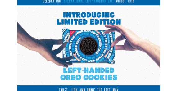 OREO Launches Left Handed Cookie Pack for #LeftHandersDay