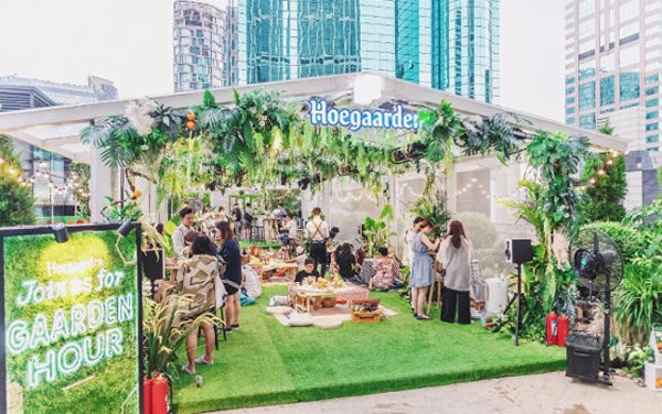 Hoegaarden's Green House Provides Solace from Stress and Shanghai's Sweltering Heat
