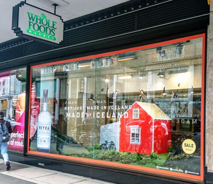 HRG's Window Display Creates Big Impact for Reyka Vodka in the UK