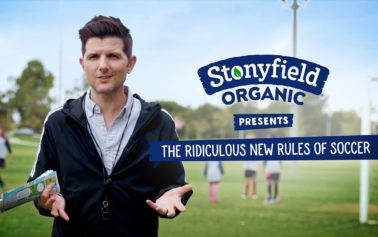 "Adam Scott Narrates ""the Ridiculous New Rules of Soccer"" for Stonyfield Organic's #PlayFree Initiative"