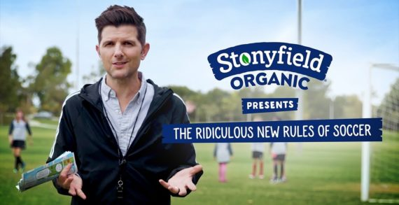 """Adam Scott Narrates """"the Ridiculous New Rules of Soccer"""" for Stonyfield Organic's #PlayFree Initiative"""