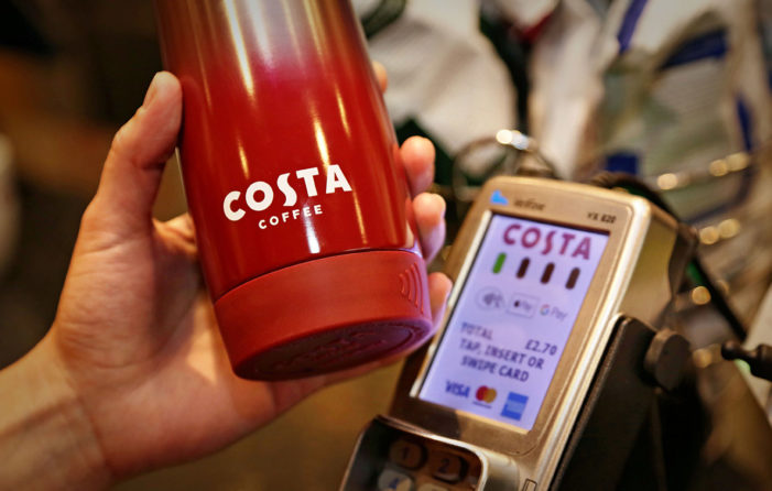 Costa Coffee and Barclaycard Team for Contactless 'Clever Cup'