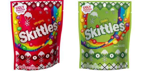 These Skittles Christmas Ugly Sweater Packages Are Super Sweet Stocking Stuffers