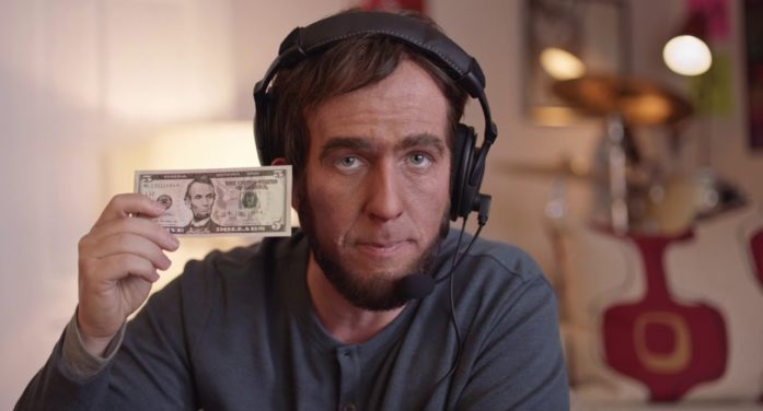 Pizza Hut Brings a Modern-Day Abe Lincoln to Life for Super Bowl to Promote its $5 Lineup